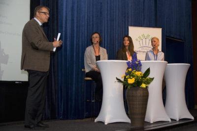 2015-06-04 Stockholm Grand Hotel, Stockholm Filantropy Symposium 2015 Hans Rosling, Annika Sšder, Melinda Gates och Gunhild Stordalen. Foto: Patric LindŽn / Internetfoto