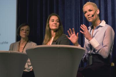 2015-06-04 Stockholm Grand Hotel, Stockholm Filantropy Symposium 2015 Hans Rosling, Annika Söder, Melinda Gates och Gunhild Stordalen. Foto: Patric Lindén / Internetfoto